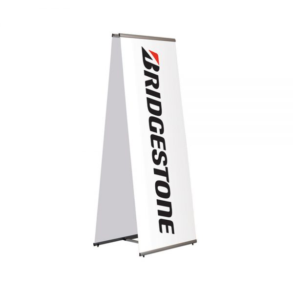 Free standing banner display and printed banner double sided - Signs and Graphics - Oakham SGQKBAN1000DS-Signs-and-Graphics-Oakham