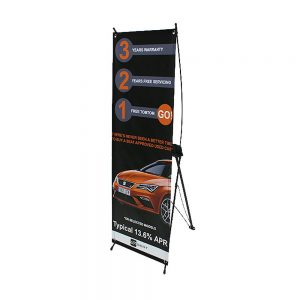X Frame free standing display with printed banner Signs and Graphics - Rutland