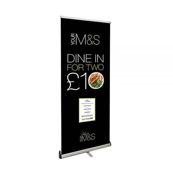 Pull up premium banner 850mm with silver base - Signs and Graphics Rutland