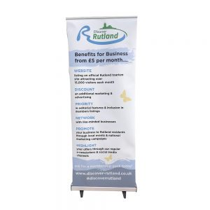 Pull up banner 800mm with ultra tough white base - Signs and Graphics Rutland
