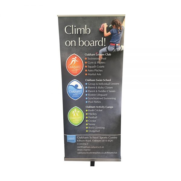 Pull up banner 850mm with silver base - Signs and Graphics - Oakham