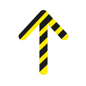 Directional Arrow Anti-Slip Floor Sticker Yellow Black Chevron