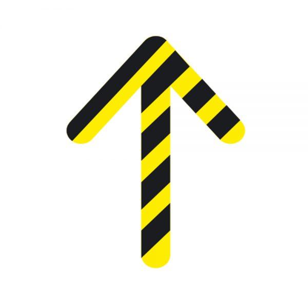 Directional Arrow Anti-Slip Floor Sticker Yellow Black Chevron